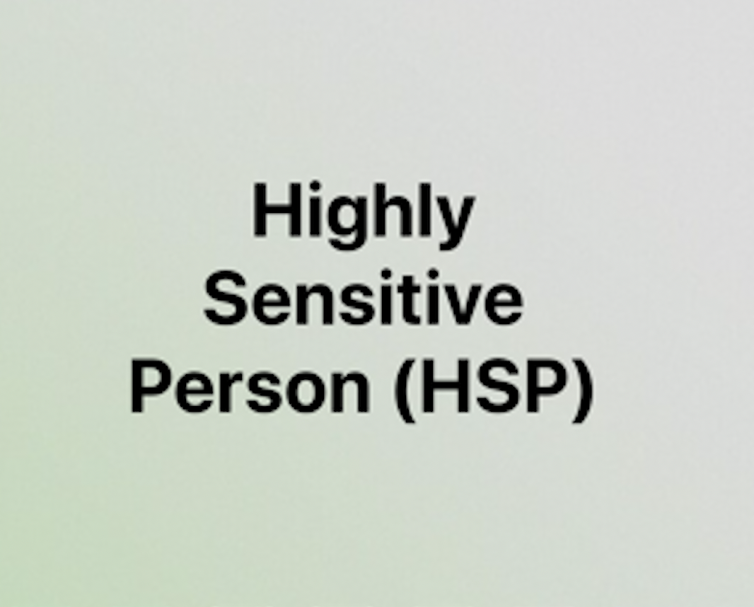 Highly Sensitive Person Coaching
