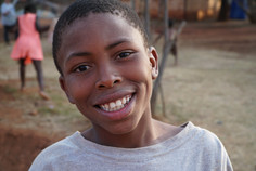 Thato, with a big smile on Kid's Day!