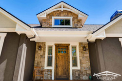 Front Stone Entry by Crosswood Homes