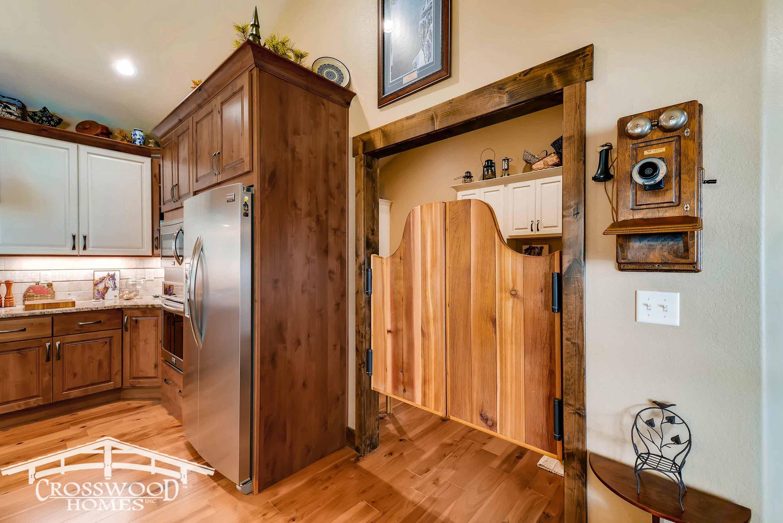 Custom Saloon Doors to laundry