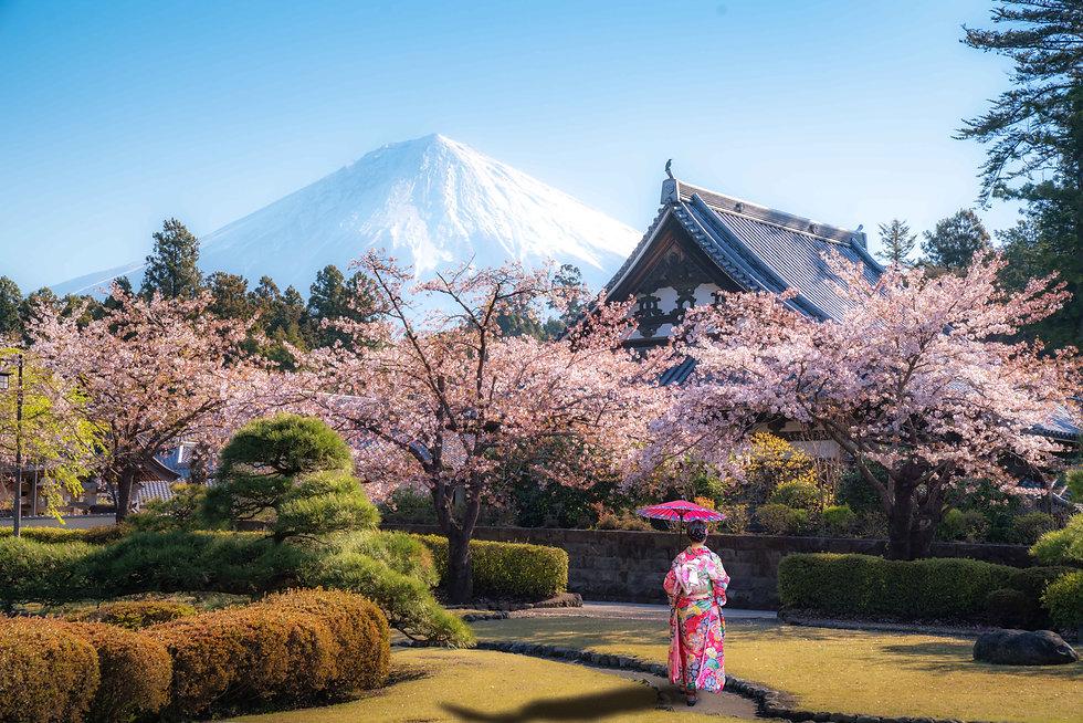 asian-woman-walking-temple-with-mt-fuji-