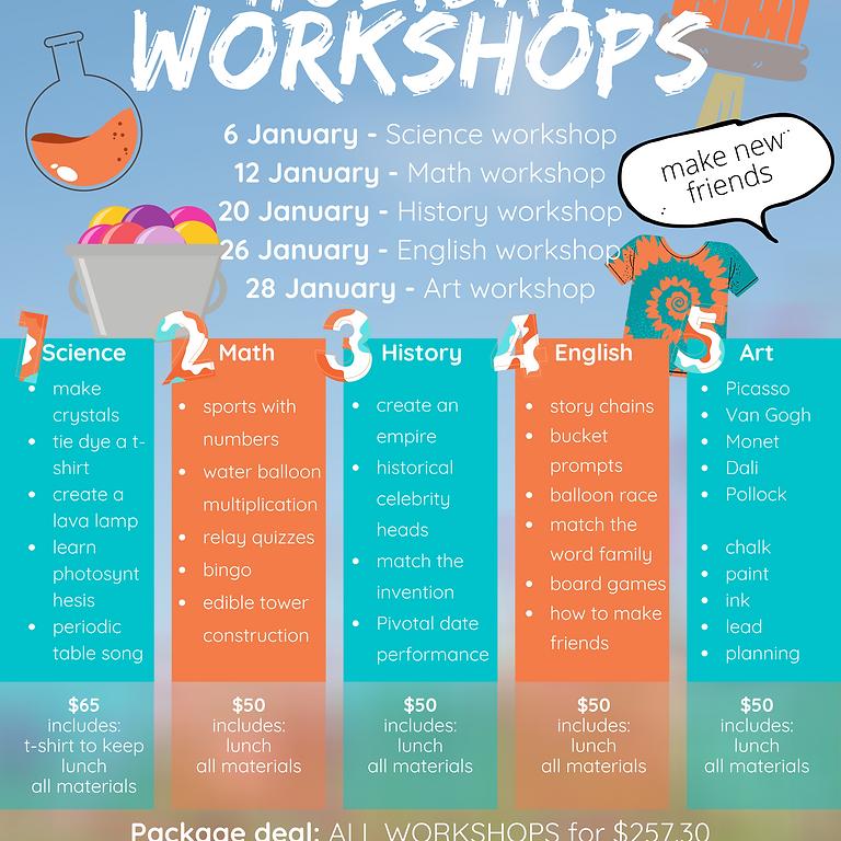 All workshops package (grades 1-7)