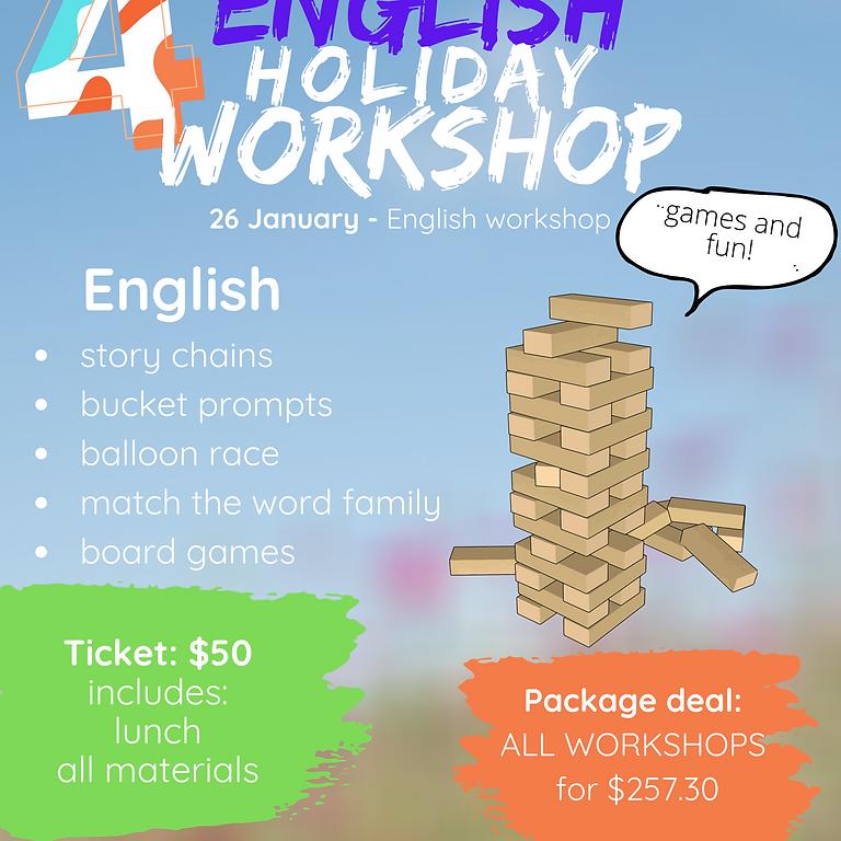 English holiday workshop (grades 1-7)