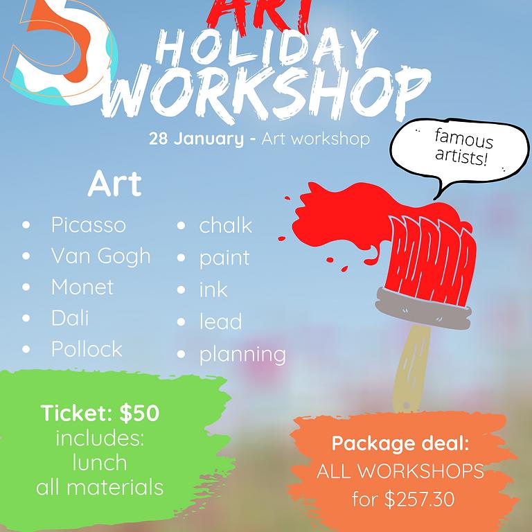 Art holiday workshop (grades 1-7)