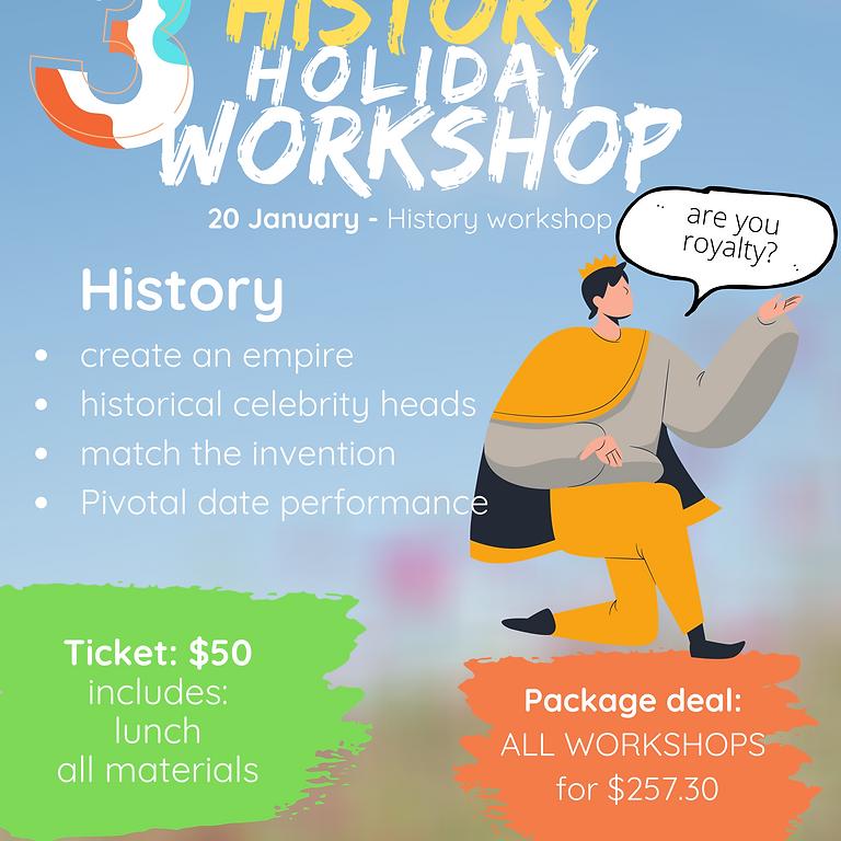 History holiday workshop (grades 1-7)