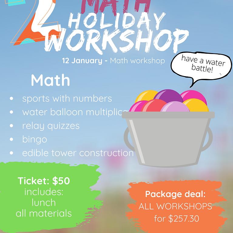 Math holiday workshop (grades 1-7)