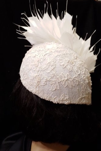 """Bridal """"V"""" point hat"""