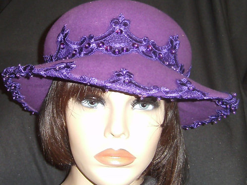Purple 2-pc hat
