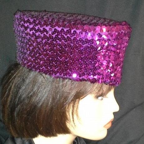 Purple vintage sequin crown