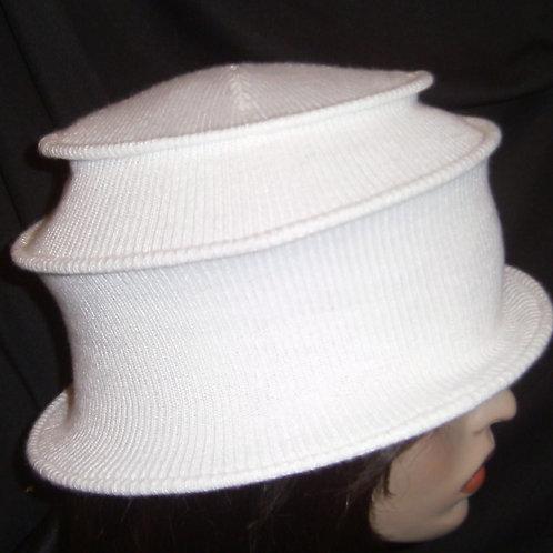 White wired cap
