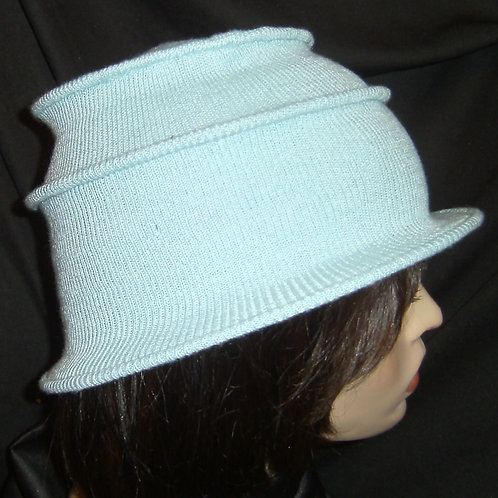 Light blue wired cap
