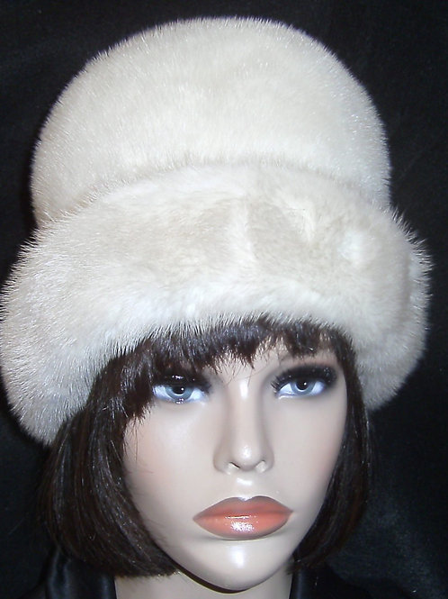 Natural mink hat