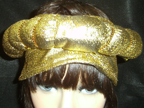 2 Pc Gold Donut headpiece