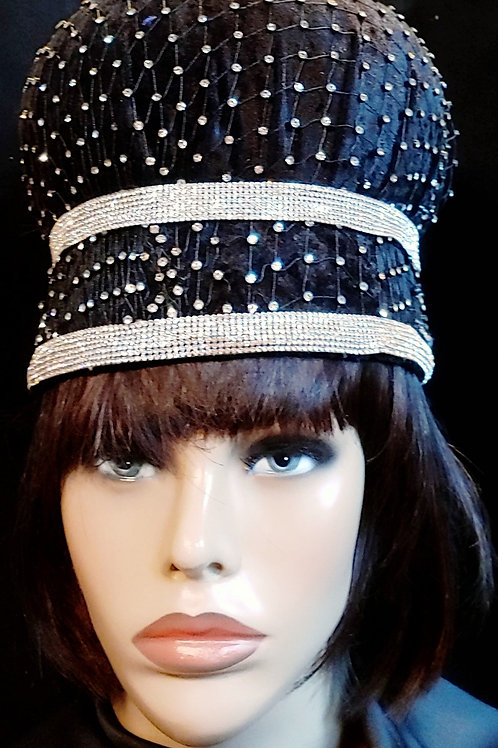 Black Rhinestone covered crown