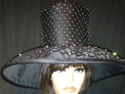 Black Satin Hat