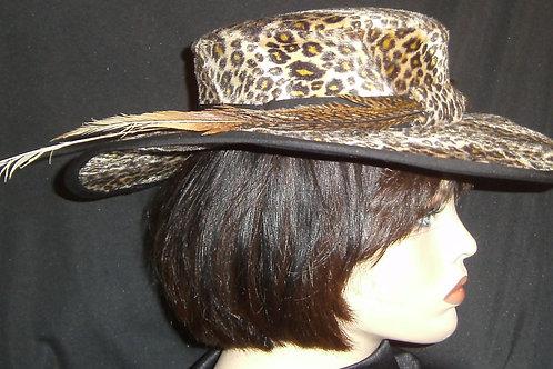 Velour covered hat