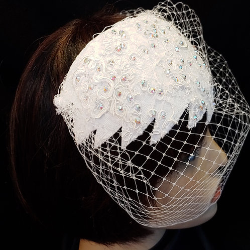 Feathered style bridal crown