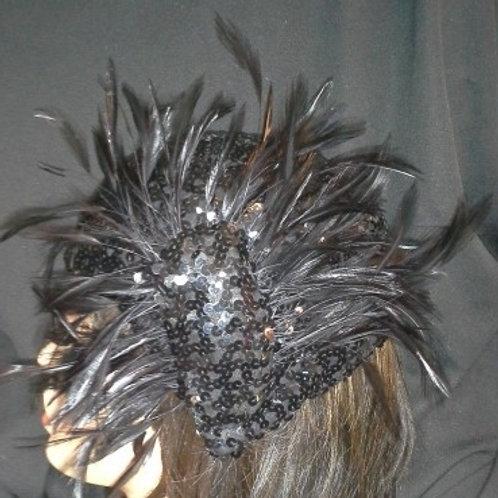 Black sequin crown