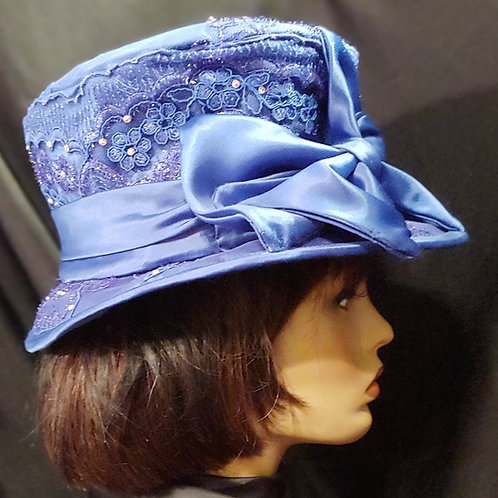 Royal blue lace crown/brim