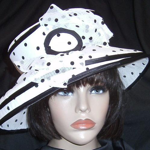 Black& white hat