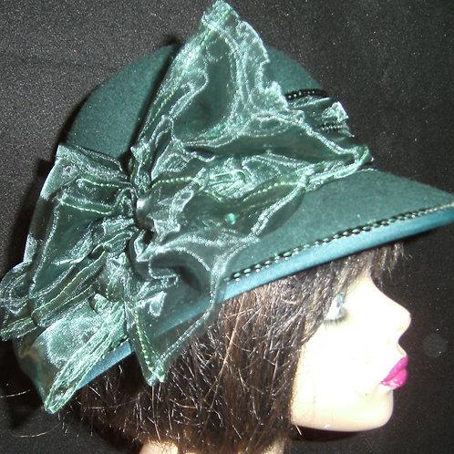 Moss green felt hat