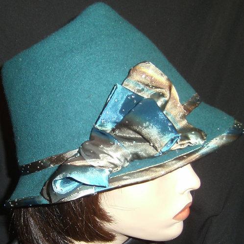 Dark teal hat