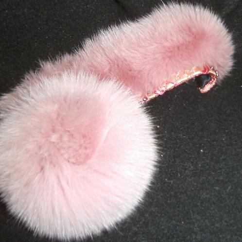 Dusty rose pink cuffs