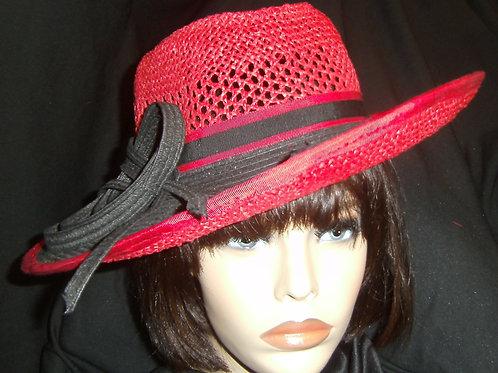 Red bottom straw hat