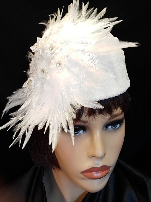 White sequin crown