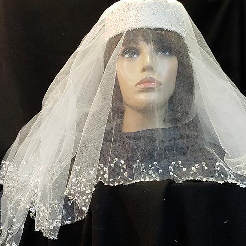 Bridal pillbox hat