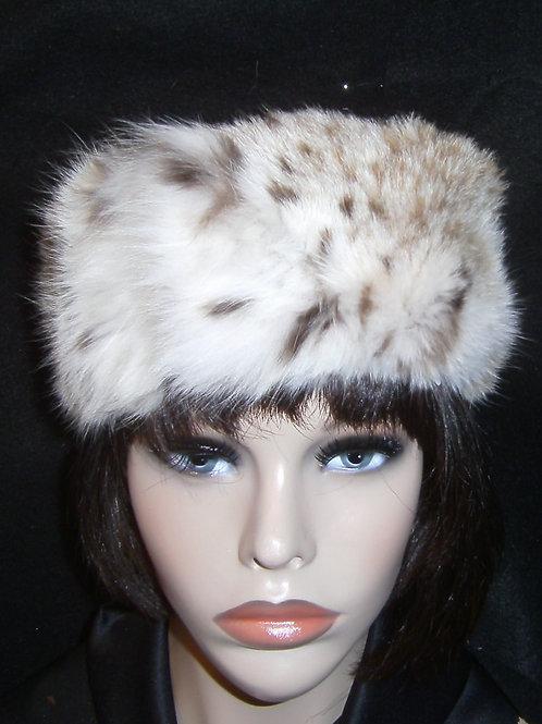 Stenciled fur headband