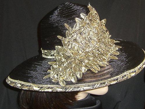 Black horsehair hat