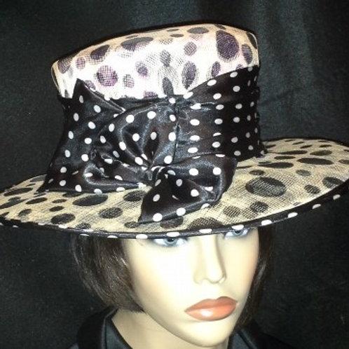 Off white sinamay hat