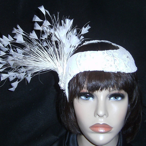White lace covered crown