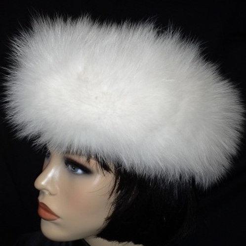 White fox head wrap