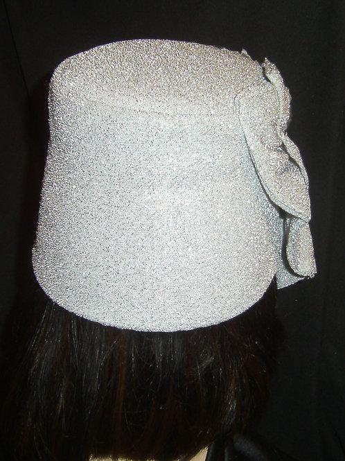 Silver lamae hat