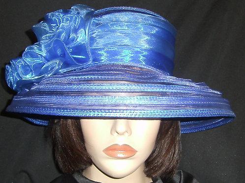 Blue horsehair hat