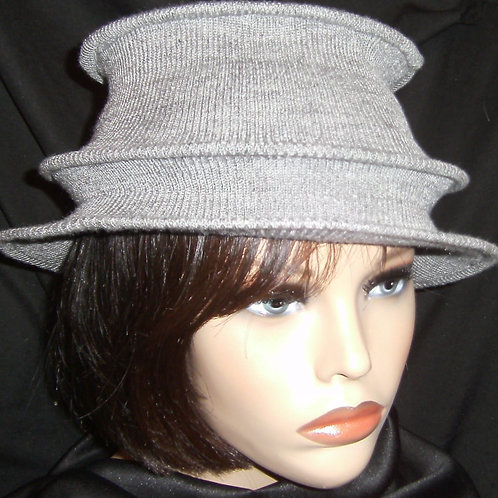 Grey wired hat