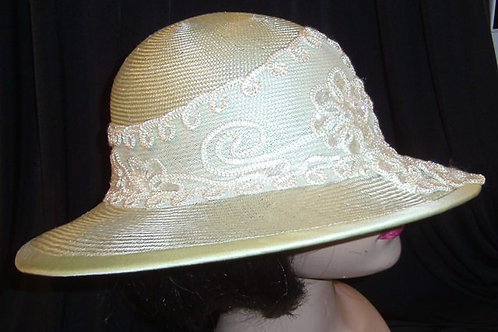 Mint green straw hat