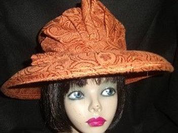 Rust heavy brocade 2pc hat