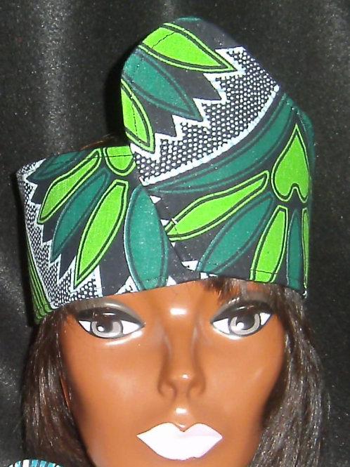 Green african print wrap # 305