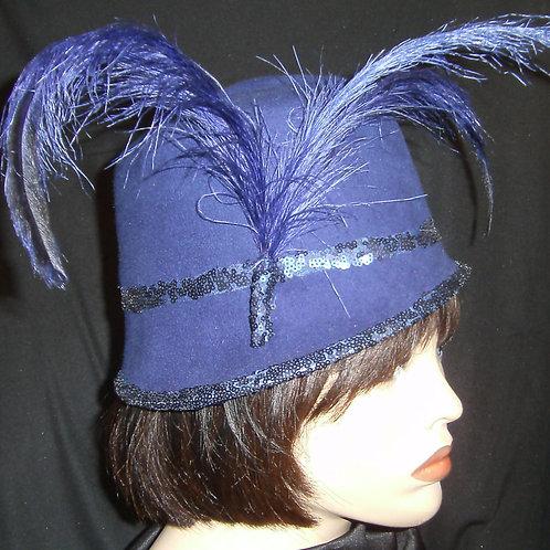 Royal blue felt