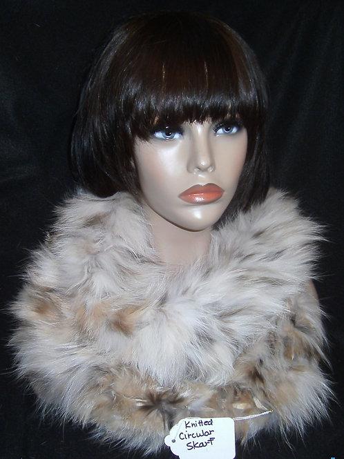 Lynx circular fur shawl