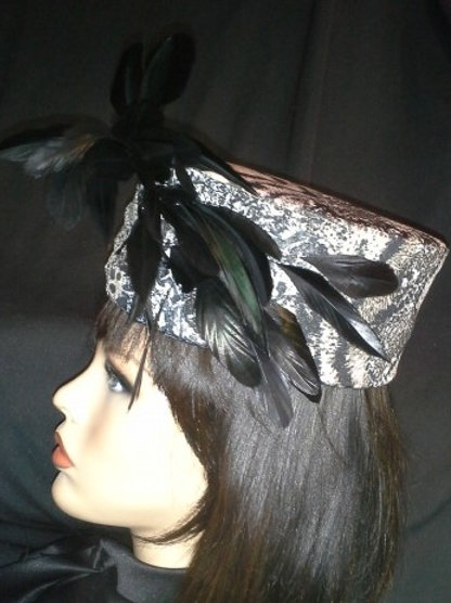 Animal print covered crown