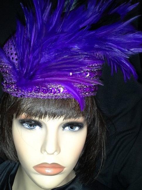 Purple sequin tam