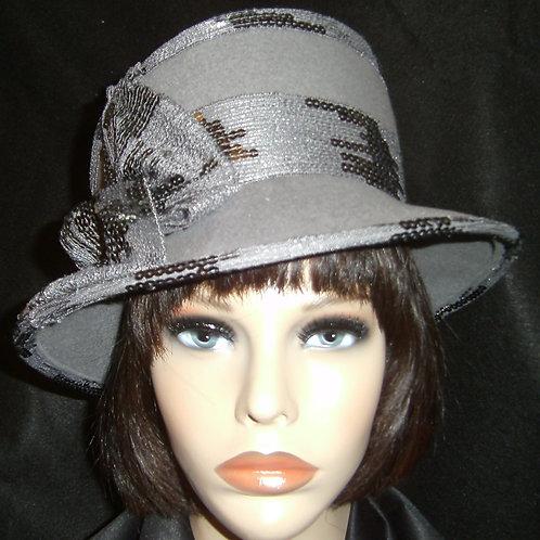 Grey felt hat