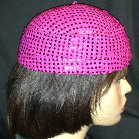 Hot pink covered  hat