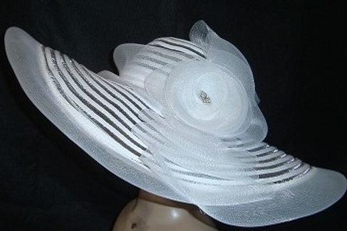 White horsehair hat