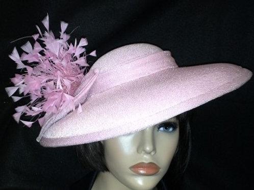 Pink lamae shimmer hat