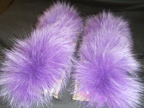 Purple slap cuff set